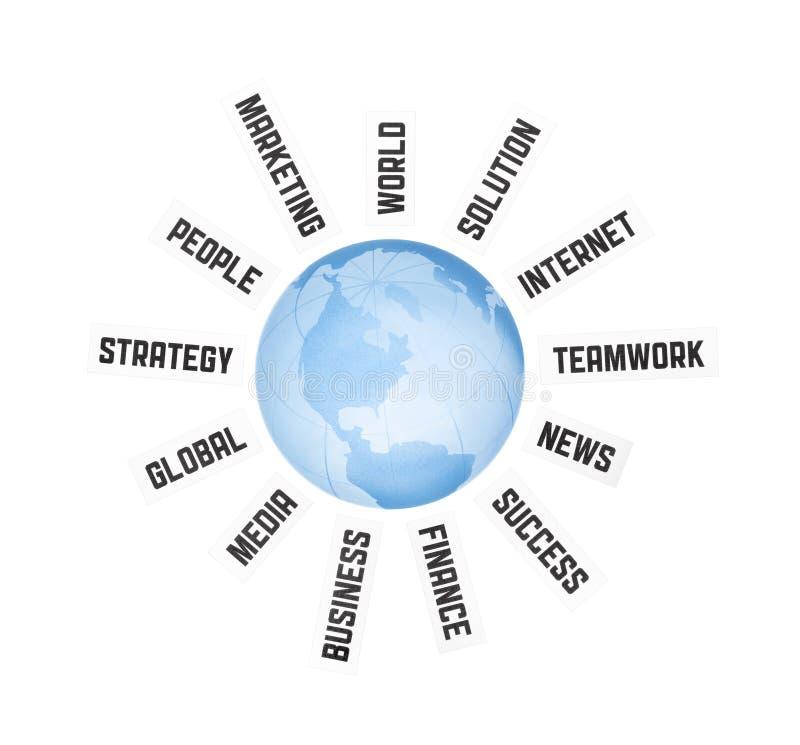 Globaal Bedrijfs Communicatie Concept royalty-vrije stock foto's