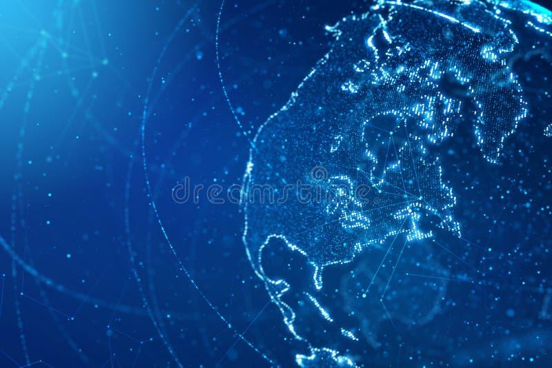 Globaal bedrijfs en communicatie concept stock illustratie