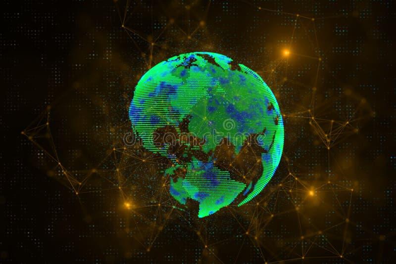 Globaal bedrijfs en technologieconcept royalty-vrije illustratie