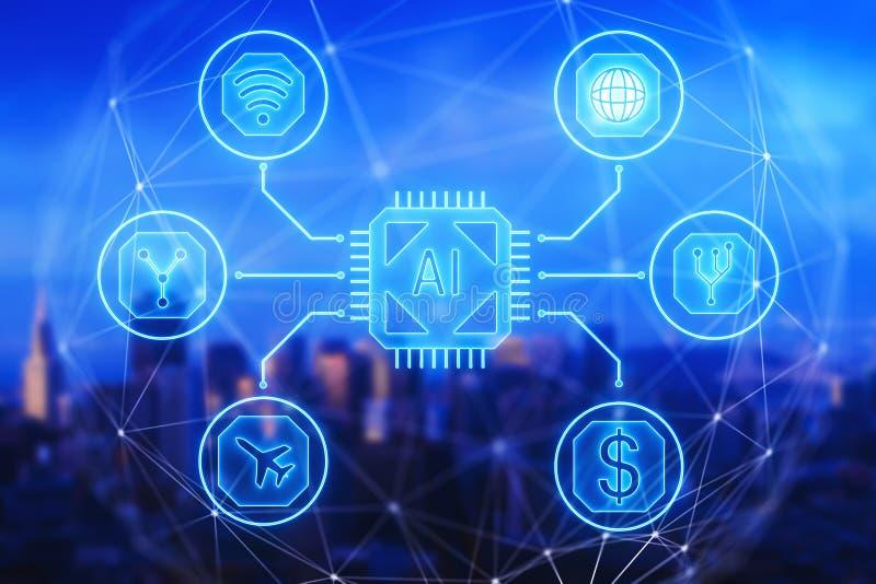 Globaal bedrijfs, financiën en communicatie concept stock illustratie