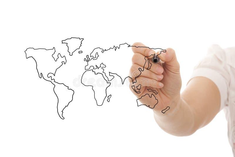 Globaal bedrijfsconcept stock afbeeldingen