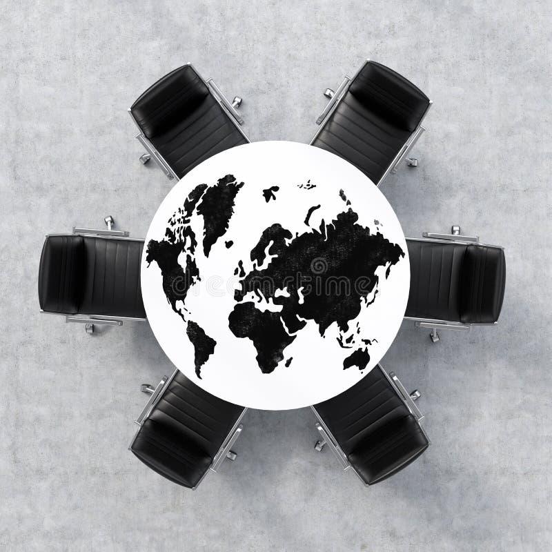Globaal bedrijfsconcept vector illustratie