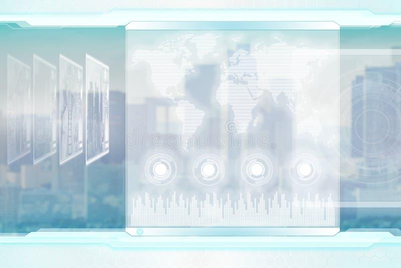 Globaal bedrijfsconcept Lichte futuristische corporatieve achtergrond vector illustratie