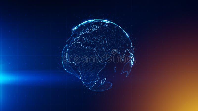 Globaal bedrijfsstrategieconcept royalty-vrije illustratie