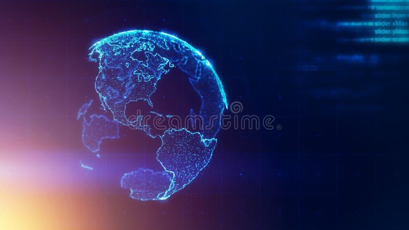 Globaal bedrijfsstrategieconcept vector illustratie