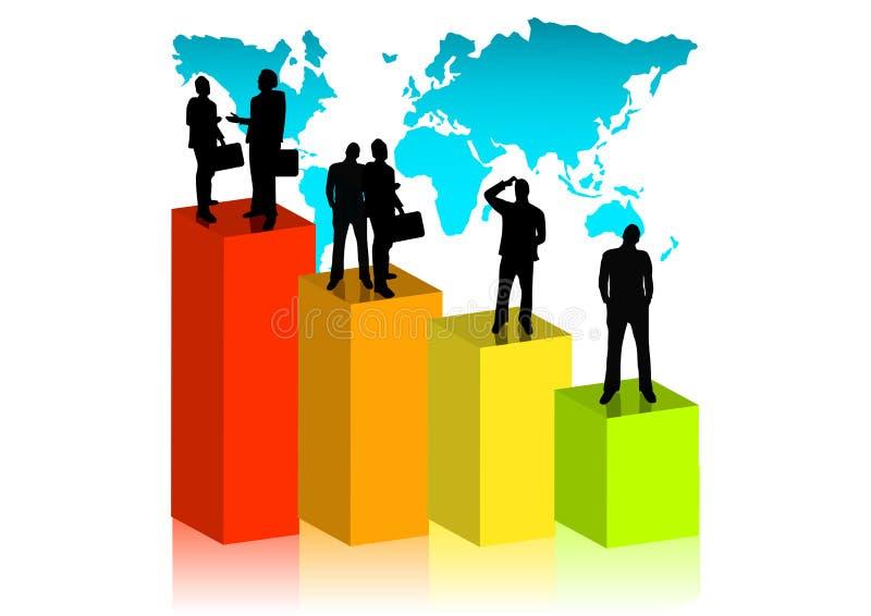 Globaal Commercieel Team vector illustratie