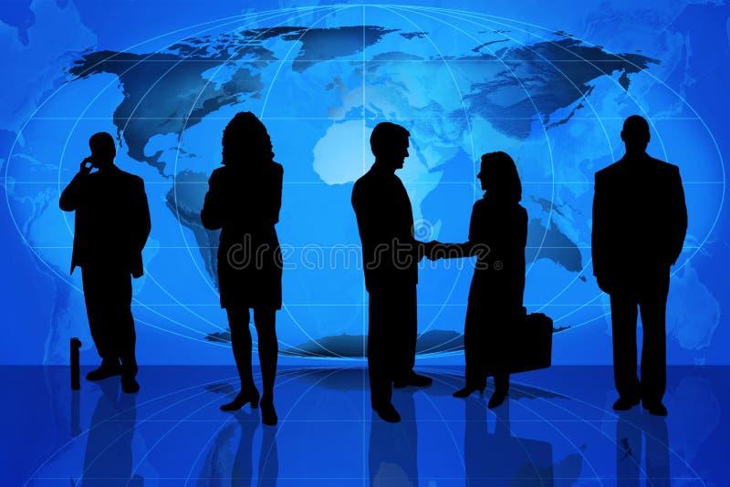 Globaal commercieel team stock illustratie