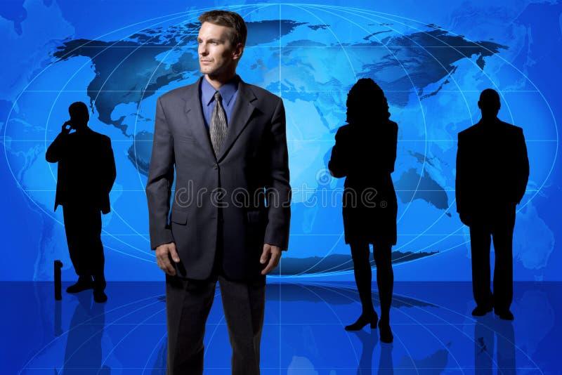 Globaal commercieel team stock foto