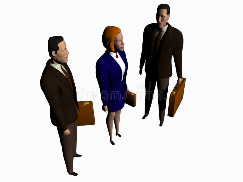 Globaal Commercieel team aan succes. stock illustratie