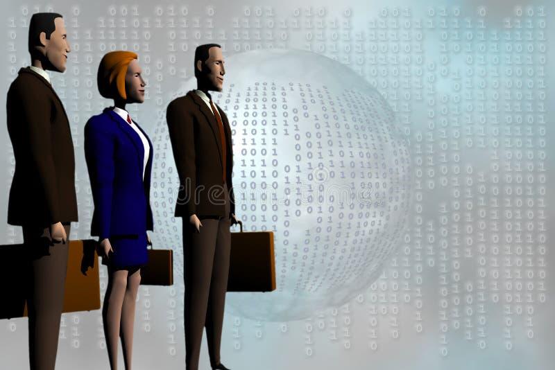 Globaal Commercieel team aan succes. vector illustratie