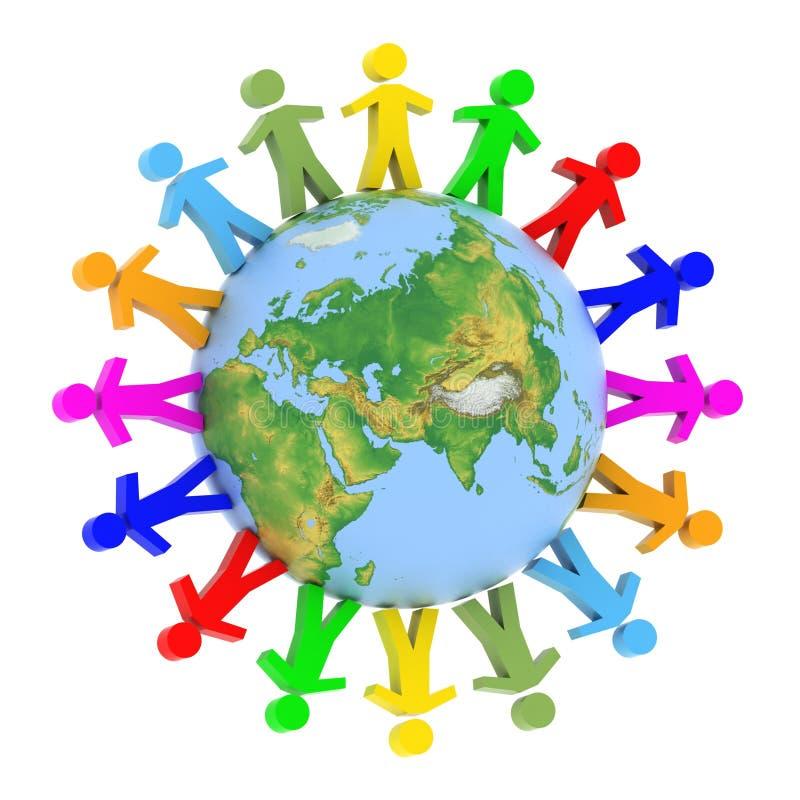 Globaal communicatie concept stock illustratie