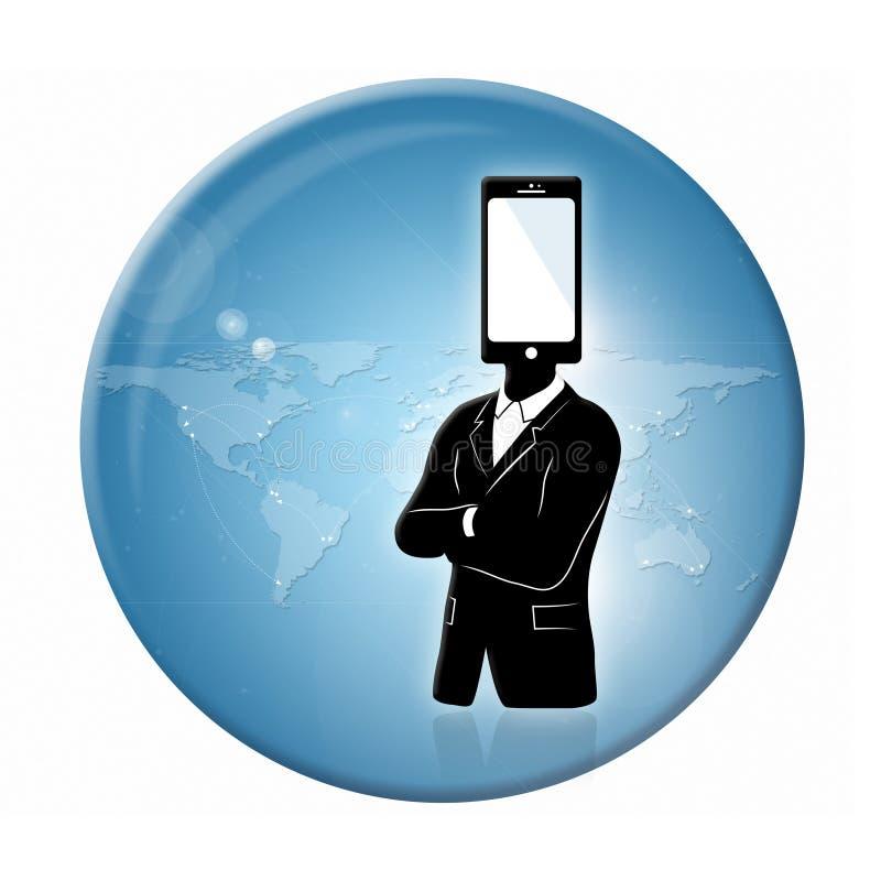 Globaal communicatie kenteken royalty-vrije illustratie