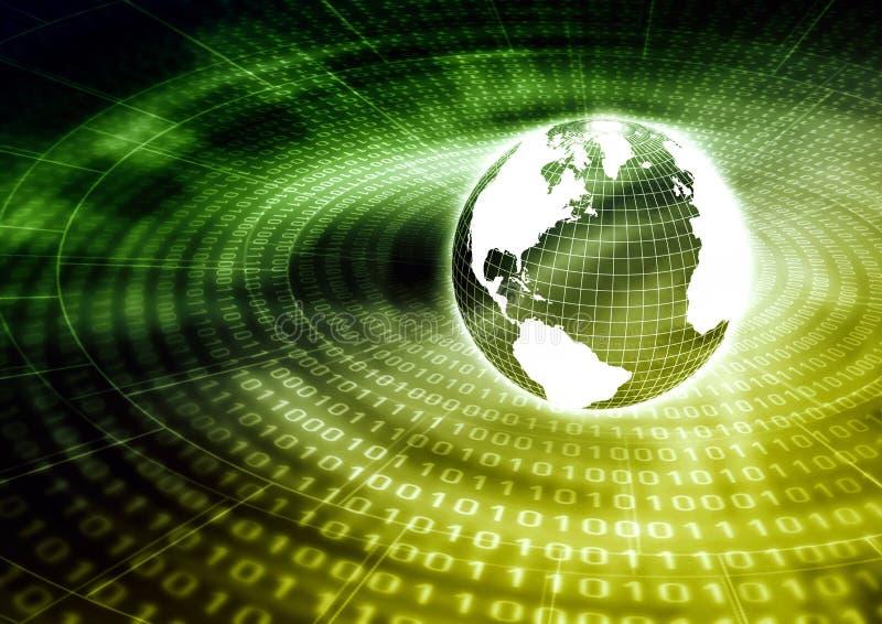 Globaal Concept 02 van Internet stock illustratie