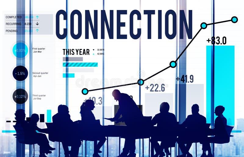 Globaal de Communicatieverbindingconcept van de voorzien van een netwerkverbinding royalty-vrije stock afbeelding