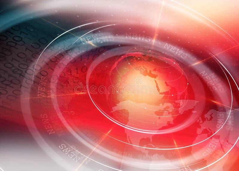 Globaal digitaal bedrijfs marketing achtergrond handeldoel stock illustratie