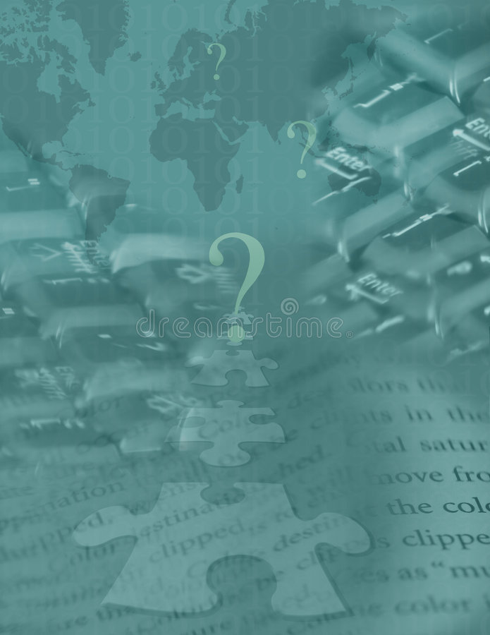 Globaal Digitaal Raadsel royalty-vrije illustratie
