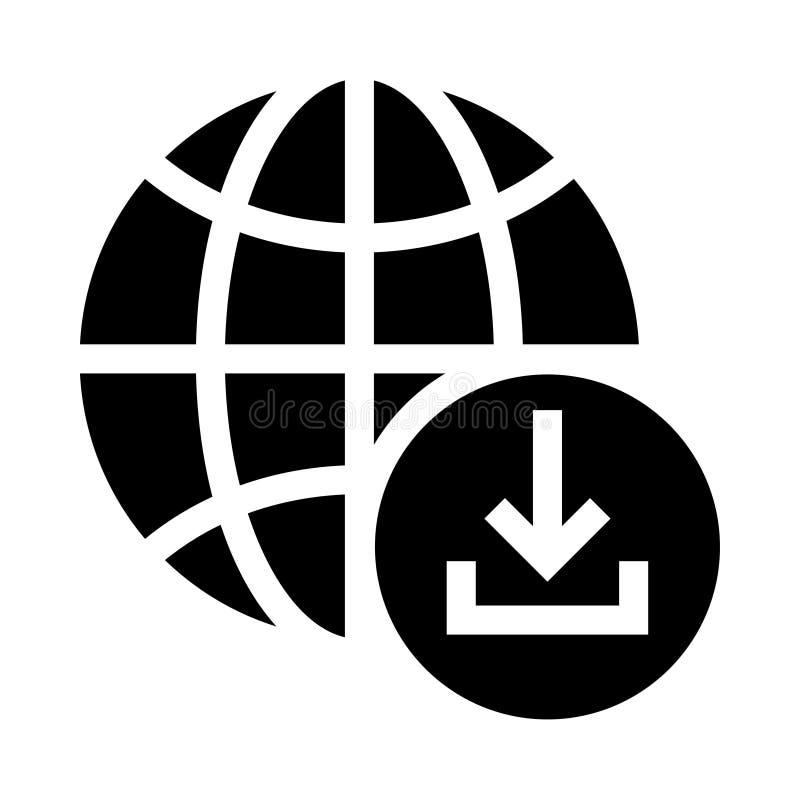 Globaal download glyphs pictogram vector illustratie