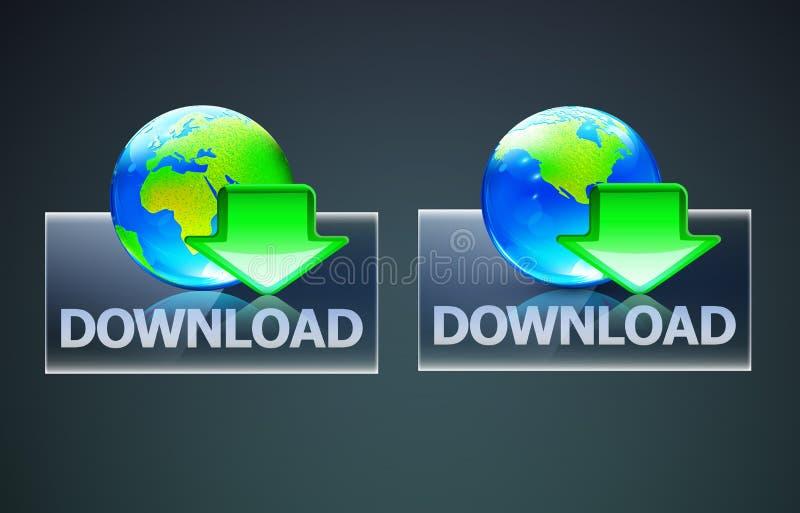 Globaal downloadconcept vector illustratie