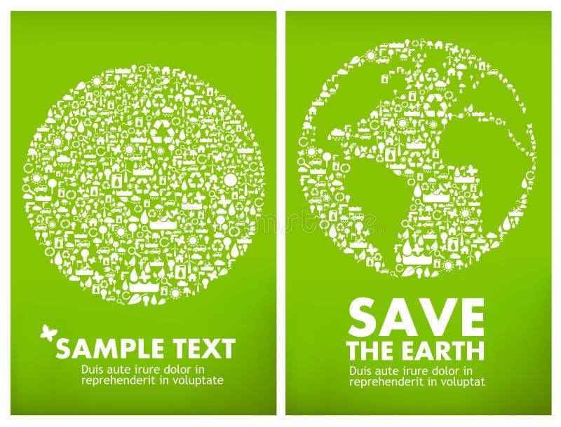 Globaal ecologieconcept vector illustratie