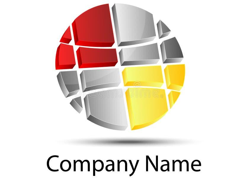 Globaal embleem stock illustratie