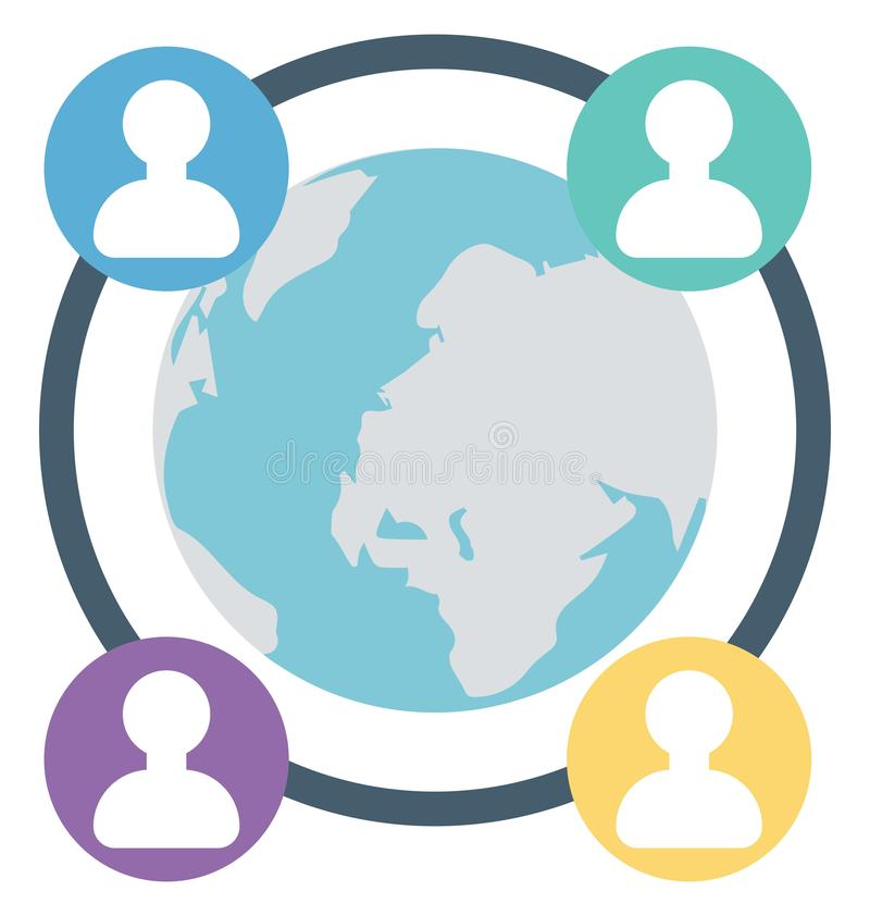 Globaal, Geïsoleerde geeft het gesprek dat kan gemakkelijk zijn uit of wijzigde zich stock illustratie