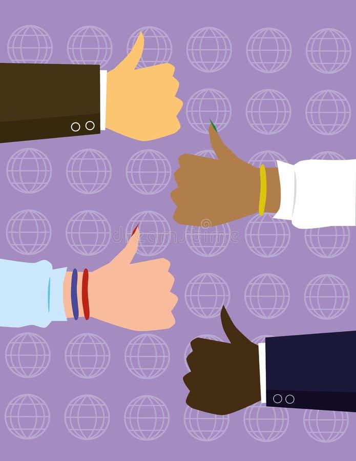 Globaal Gelijkheidsconcept vector illustratie