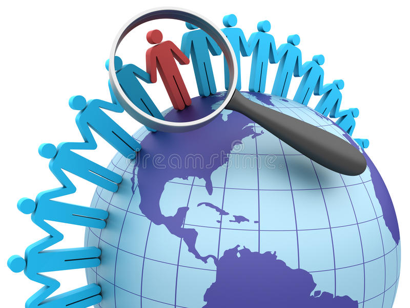 Globaal Groepswerk stock illustratie