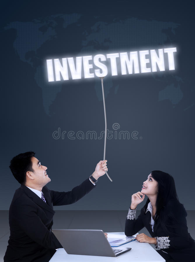 Globaal handelsinvesteringenconcept royalty-vrije stock fotografie