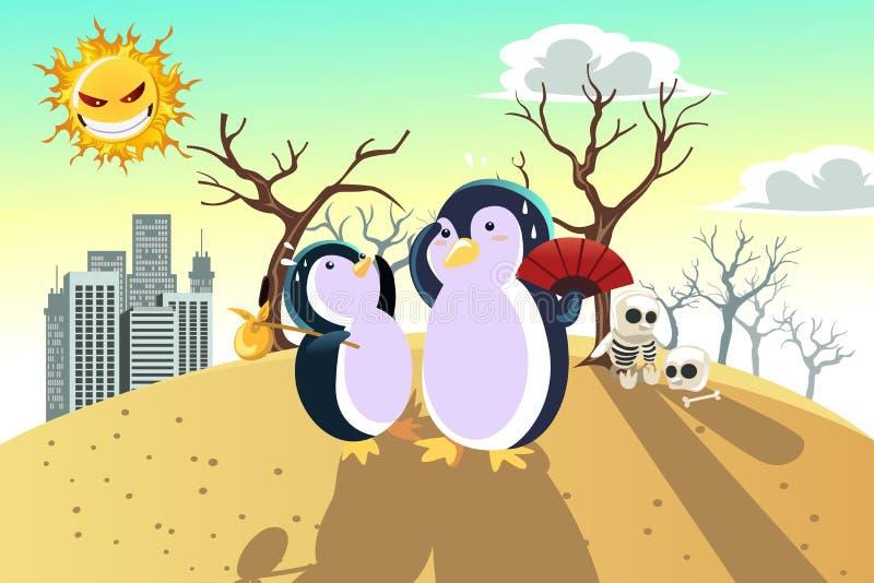 Globaal het verwarmen concept vector illustratie