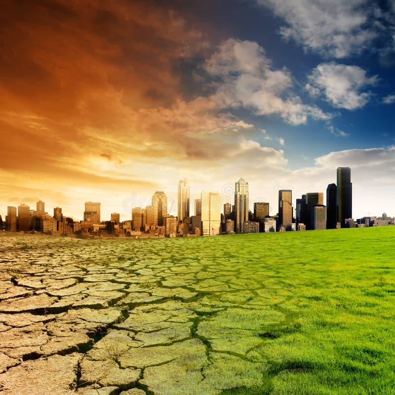 Globaal het Verwarmen Concept