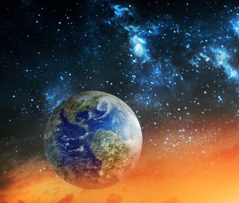 Globaal het verwarmen en apocalypsconcept stock illustratie