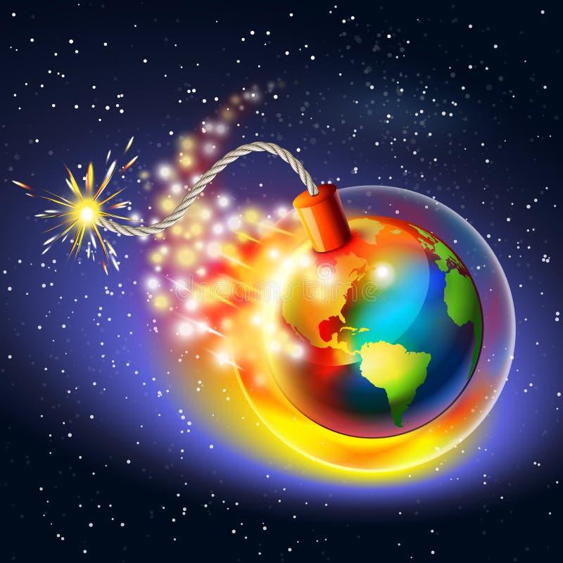 Globaal het verwarmen waarschuwingsconcept royalty-vrije illustratie