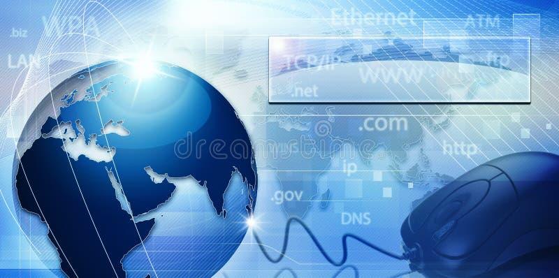 Globaal informatienetwerk royalty-vrije illustratie