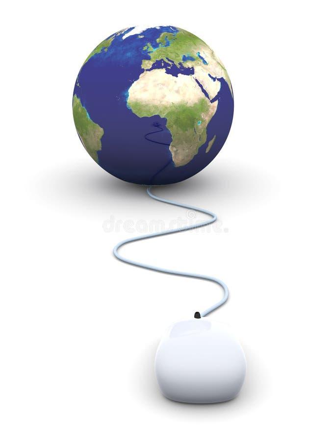 Globaal klik royalty-vrije illustratie