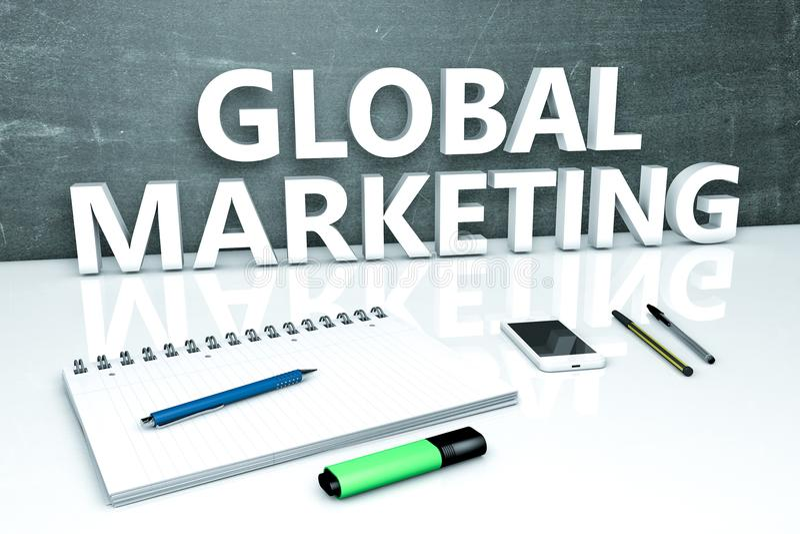 Globaal Marketing tekstconcept royalty-vrije illustratie