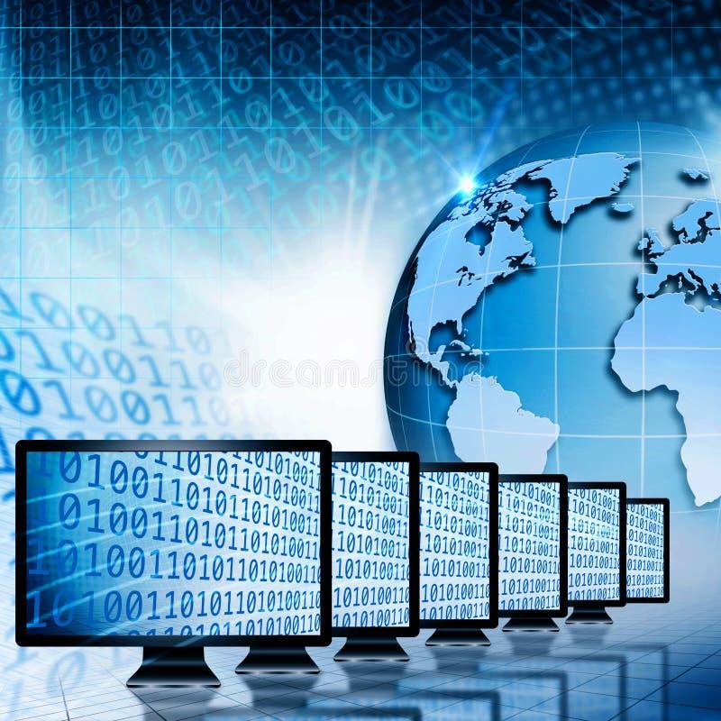 Globaal mededelingen en Internet. royalty-vrije illustratie