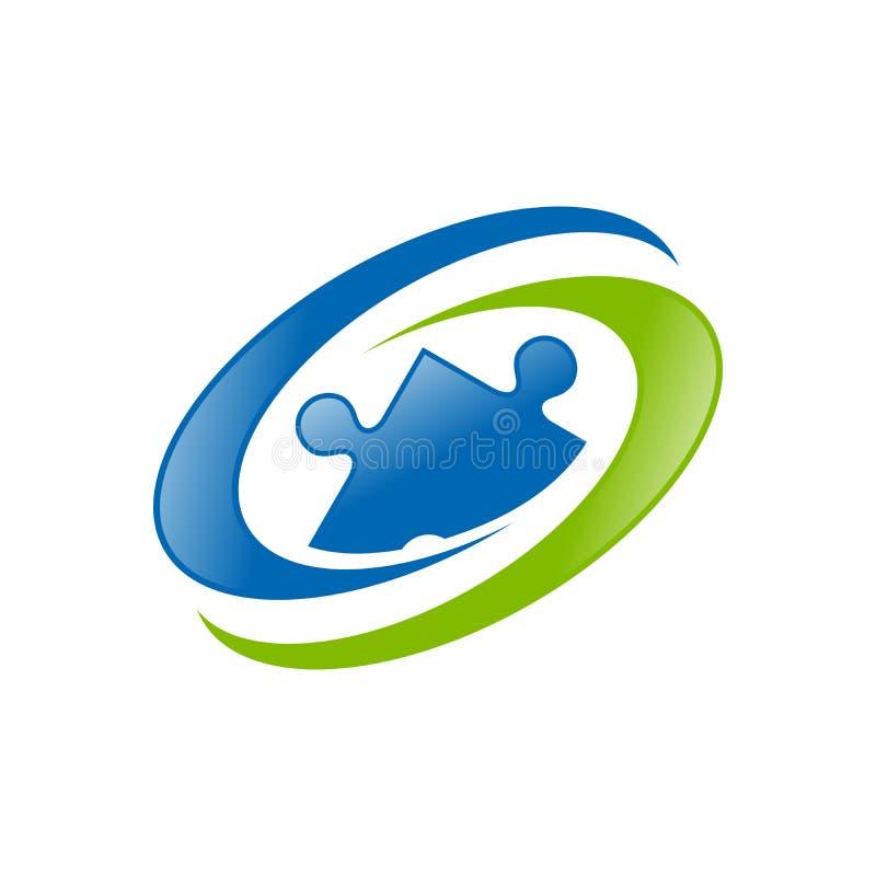 Globaal Menselijk Middel Blauwgroen Symbool Logo Design stock illustratie