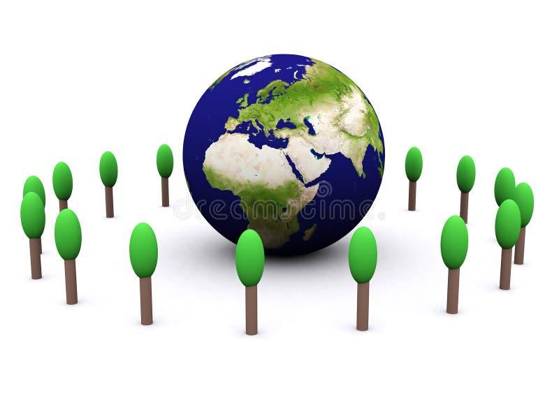 Globaal milieu (Europa) royalty-vrije illustratie