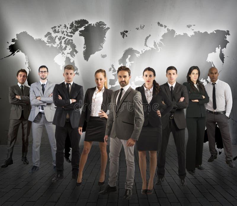 Globaal ondersteuningsteam royalty-vrije stock foto's