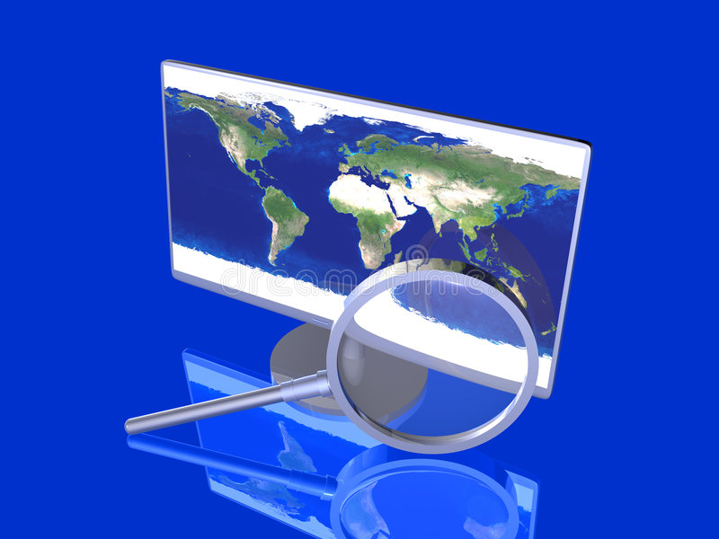 Globaal Onderzoek royalty-vrije illustratie