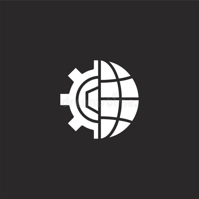 Globaal Pictogram Gevuld globaal pictogram voor websiteontwerp en mobiel, app ontwikkeling globaal pictogram van gevulde producti vector illustratie