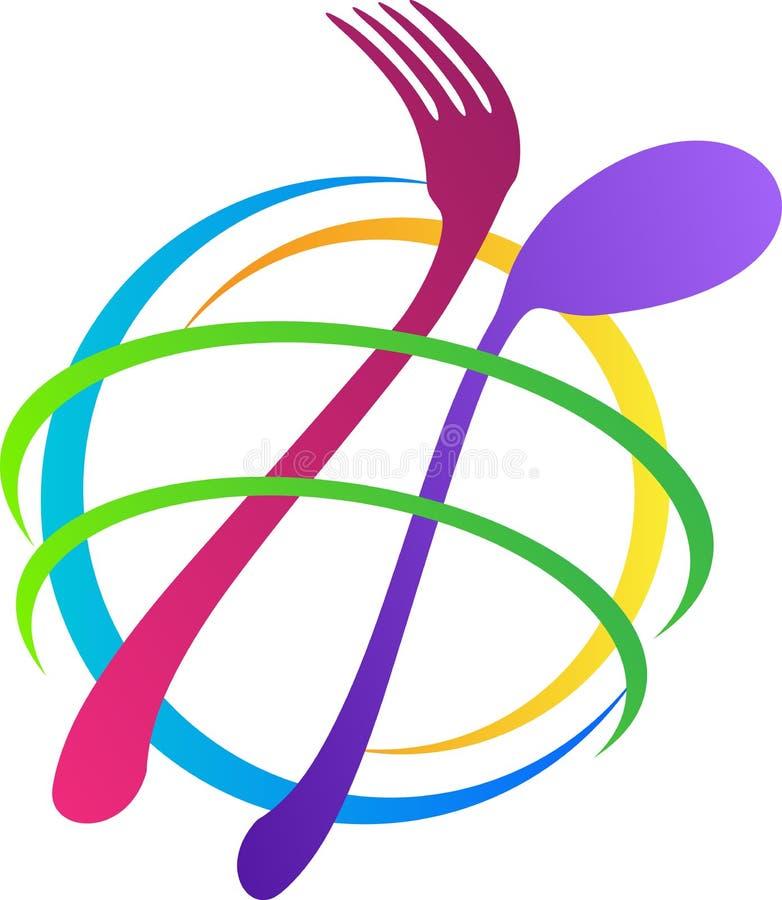 Globaal restaurant royalty-vrije illustratie