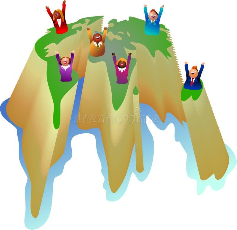 Globaal succes royalty-vrije illustratie