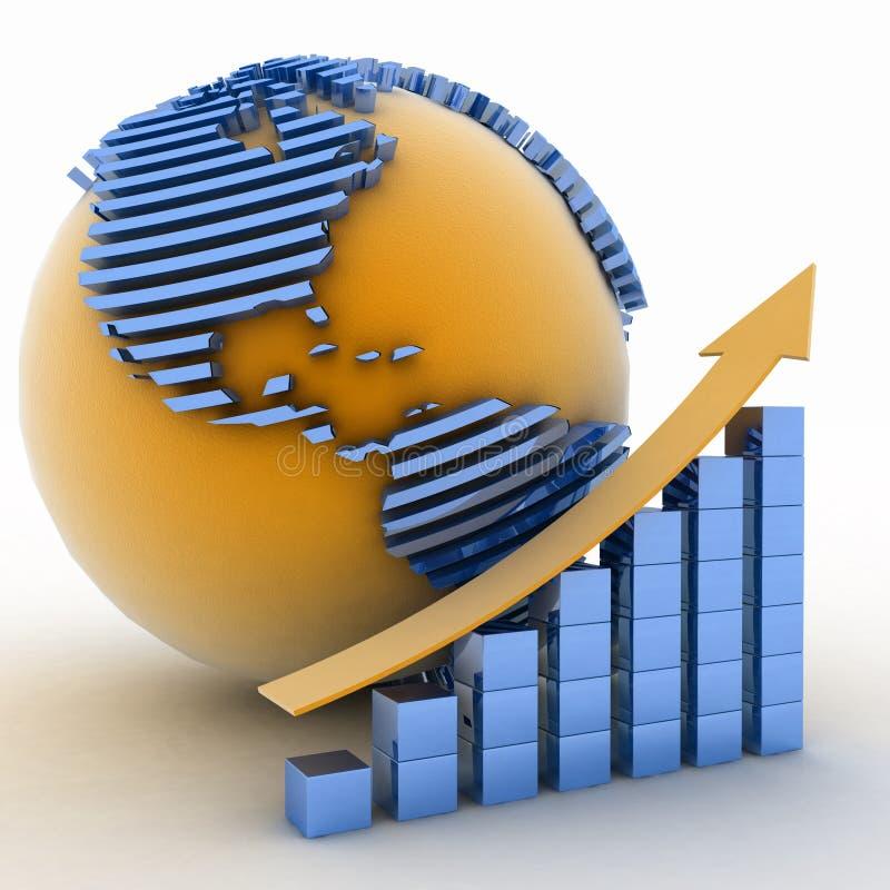 Globaal succesconcept vector illustratie