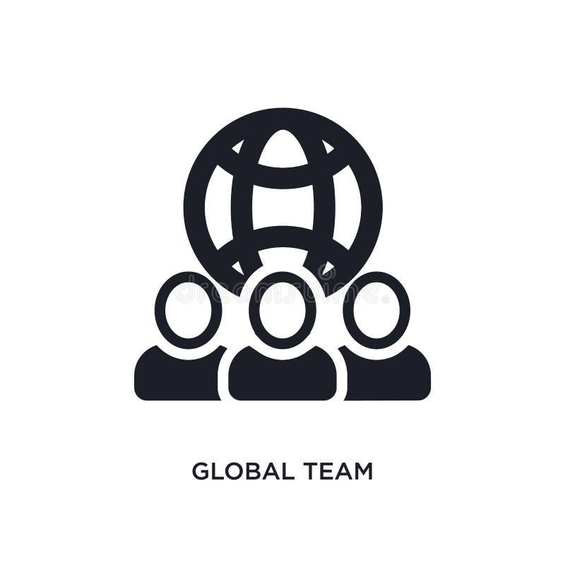 globaal team geïsoleerd pictogram eenvoudige elementenillustratie van algemeen-1 conceptenpictogrammen het globale ontwerp van he stock illustratie