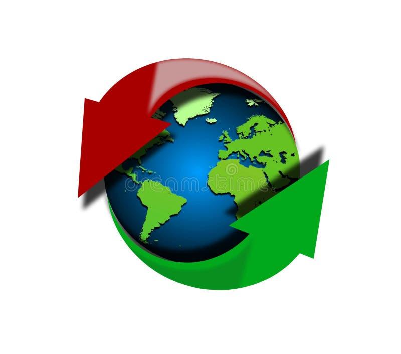 Globaal upload en download stock illustratie