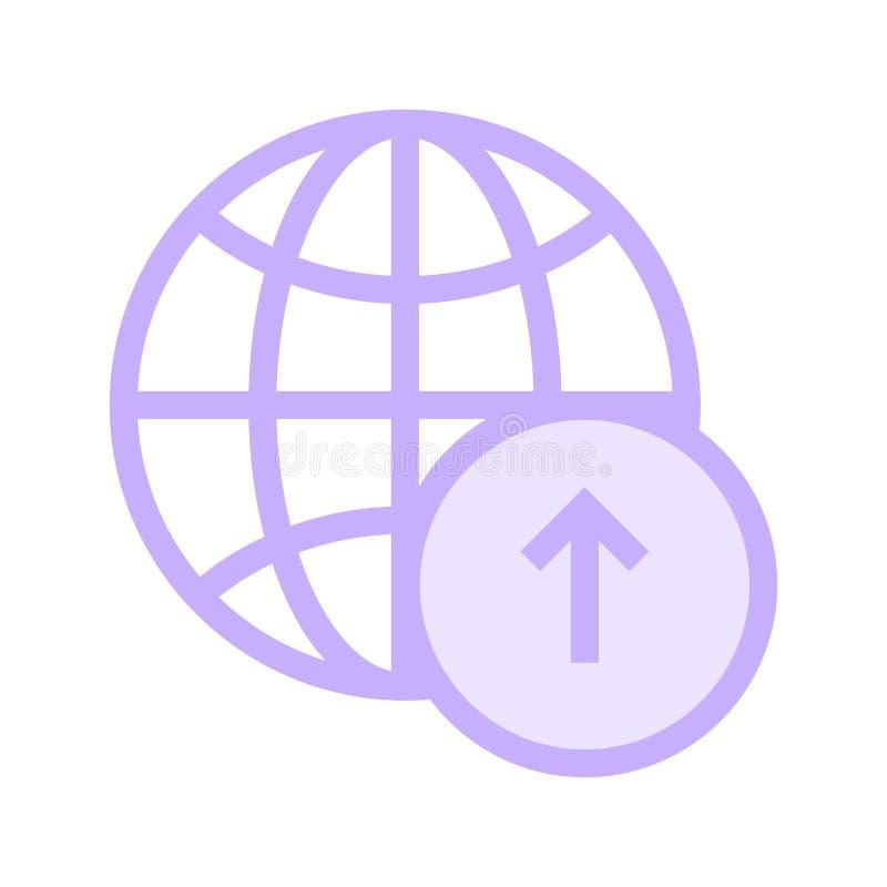 Globaal upload rassenbarrièrepictogram stock illustratie