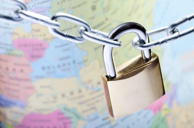 Globaal veiligheidsconcept royalty-vrije stock afbeelding