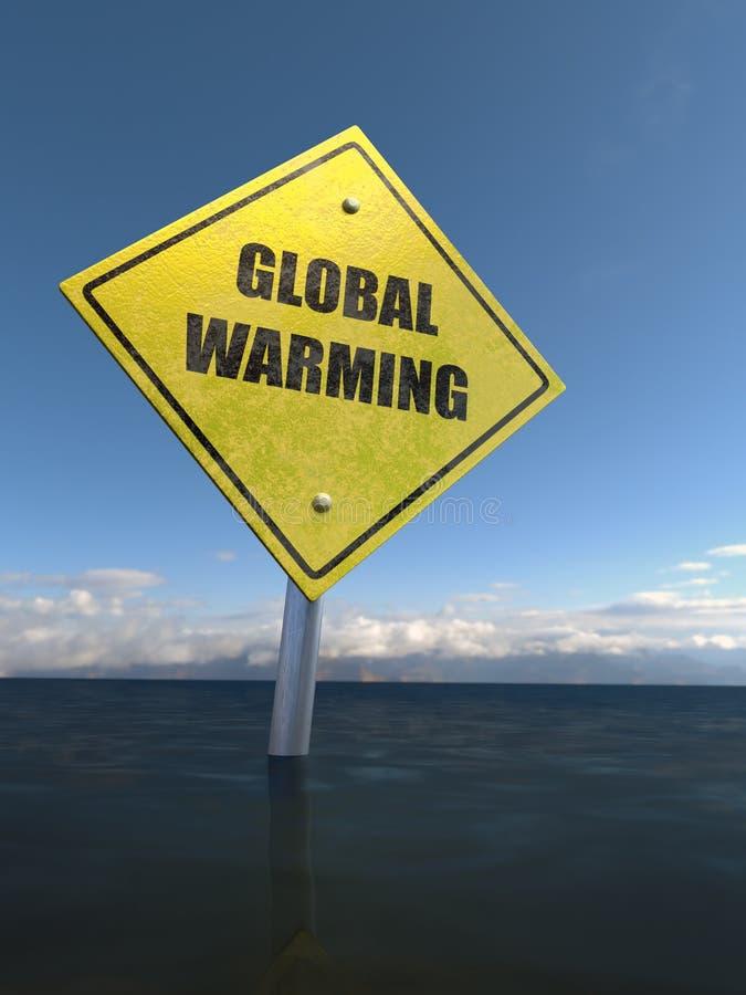 Globaal verwarmend teken stock illustratie