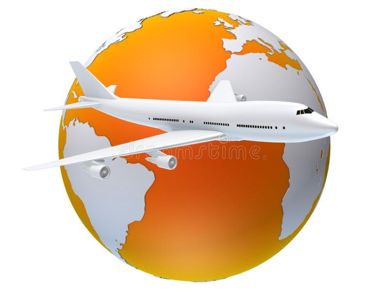 Globaal vliegtuig vector illustratie